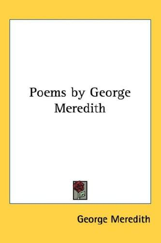 Poems by George Meredith
