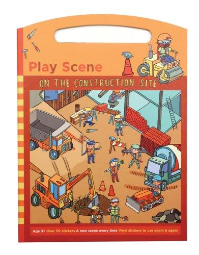 On the Construction Site Sticker Set Play Scene by Galison/Mudpuppy