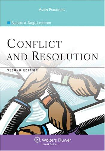 Conflict and Resolution, Second Edition (Aspen College)