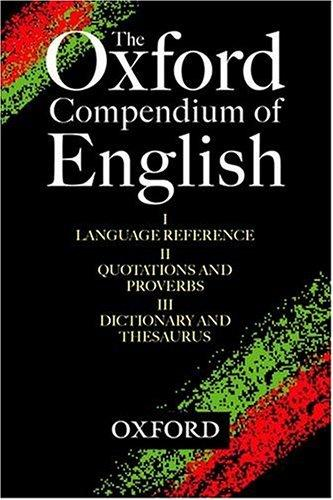 The Oxford Compendium of English by Jonathan Law