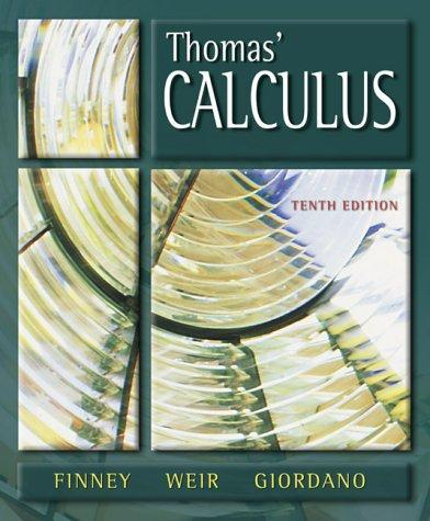 Thomas' calculus by Ross L. Finney