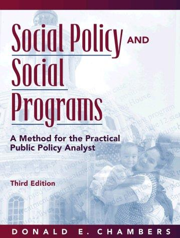 Social policy and social progams by Donald E. Chambers