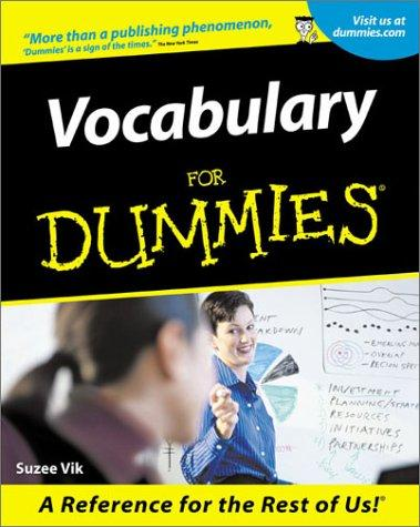 Vocabulary for dummies by Laurie Rozakis