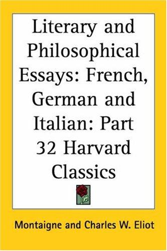 Literary and Philosophical Essays by Michel de Montaigne