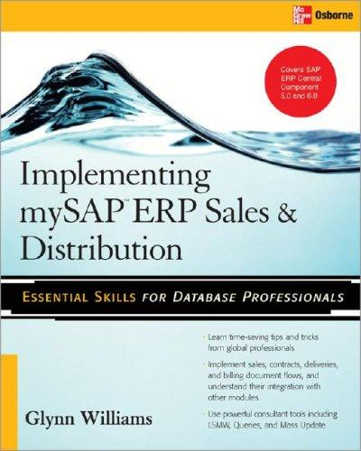 Implementing SAP ERP sales & distribution by Glynn C. Williams