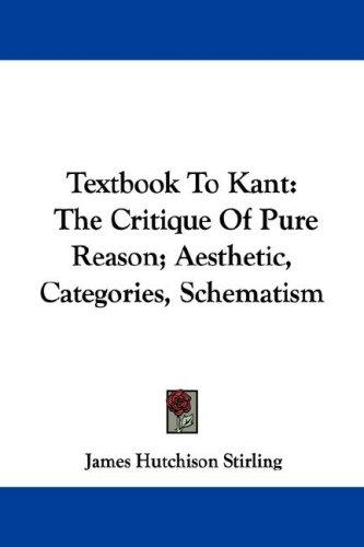 Textbook To Kant