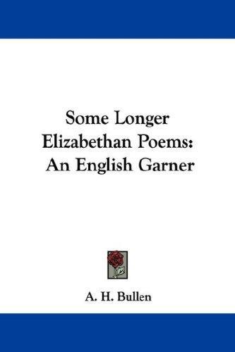 Some Longer Elizabethan Poems