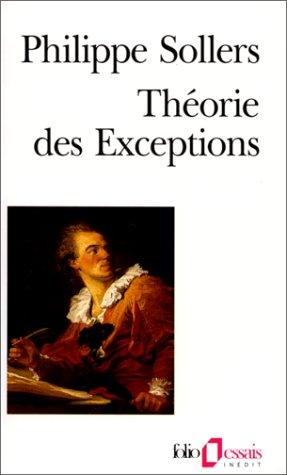Théorie des exceptions by Philippe Sollers